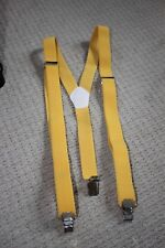 Elastic Y-Back Suspender BRIGHT YELLOW Unisex Belt Adjustable Braces Clip-on