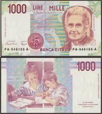 1000 LIRE MONTESSORI A 24/10/1990