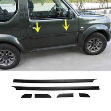 For Suzuki Jimny 2007-2015 Black ABS Side Door Body Molding Cover Trim 6pcs
