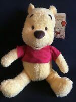 "Disney -Winnie The Pooh- Soft Plush Toy - 12"" 30cm sitting -Brand New -UK Seller"