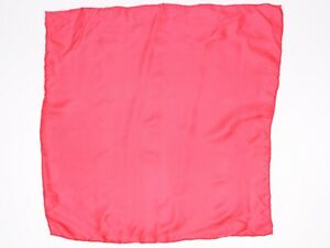 Hand Rolled Mens Silk Pocket Square Solid True Red Gents Hanky