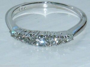 Real diamond ring 18ct white gold, A stunning UK Hallmarked, size M, .35 ct