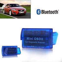 New Blue Portable Bluetooth Mini OBDII Protocols Auto Diagnostic Scanner For ISO