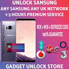 SAMSUNG UNLOCK CODE SERVICE S9 S8 S7 S6 Edge Note Plus Edge EE O2 Vodafone 3 UK