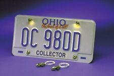 hot rod license plate light bolts LED white pair 1932 ford gasser kustom