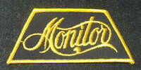 "MONITOR EMBROIDERED SEW ON PATCH UNIFORM JACKET HAT 4 7/8"" x 2"""