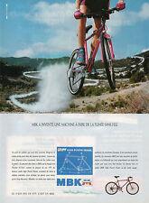 Publicité 1991  Vélo MBK high power frame HPF