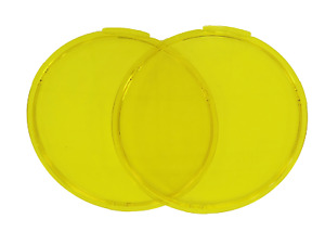 Pair Yellow Covers PC Lens Amber Fit 9inch Driving Lights Vehicle Parts Fog Lamp