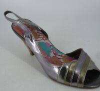 Rocket Dog Low Heel Sling Back Metalic Sandals Size UK 5 EU 38 NH091 DD 07