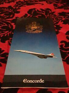 Concorde flight certificate & And Menu Signed Brian Walpole