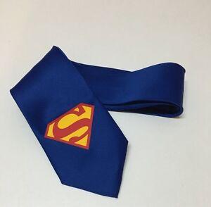 Superhero Cool Tie, New, Royal Blue