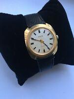 Vintage RARE Men PRIM  Wrist Watch 17 jewels AU GOLD PLATED COLLCETION