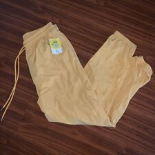 F21 Yellow Windbreaker Pants, Brand New, Women's Size L