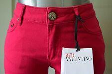 NWT RED VALENTINO Jeans 25W SUPER CUTE pants Slim Magenta Bow Designer