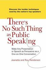 There's No Such Thing as Public Speaking: Make Any Presentation or Spe-ExLibrary