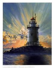 Lighthouse Art Print: Old Saybrook, CT - 9x11 In.