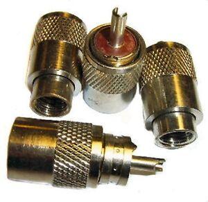 PL259 plugs for RG213 UHF Coax X 4