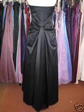 DEBUT DEBENHAMS BLACK BUSTLE PROM/BRIDESMAID/BALLGOWN/EVENING/CRUISE DRESS 6/8