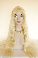 Long Straight Hair Parted in the Middle Blonde Grey Brunette Red Costume Wigs