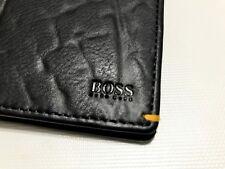 HUGO BOSS WALLET, MODEL 50332422 BIFOLD BLACK, 8 CREDIT CARD SOLT, BOXED