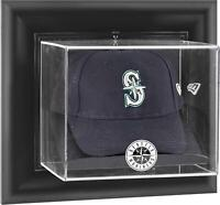 Mariners Black Framed Wall- Logo Cap Display Case - Fanatics