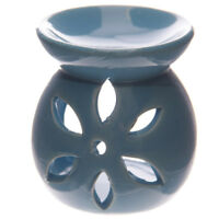 Small Blue Flower Wax Warmer/Burner & pack of 10 Handpoured Scented Melts