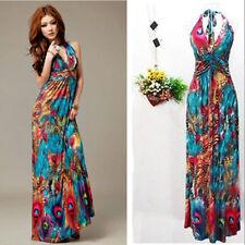 Women Summer Boho Halter V-neck Maxi Evening Party Beach Long Dress Skirt X