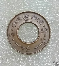 1952~~Pakistan~~1 Pice~~Reverse Star and crescent moon~~Proof Like Hole Coin