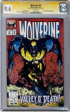 Wolverine #67 CGC 9.6 Signature Series signed & sketch by Mark Texeira 1993 L@@K