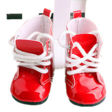 """Handmade Red Boots Shoes For 18"""" Doll Toy Party Clothes Kids Toy Shoes"""