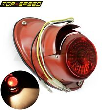 Motorcycle Sidecar Rear Taillight Number Plate Light For Dnepr Ural Harley