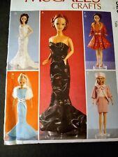 McCalls Crafts Doll Pattern. Barbie Size