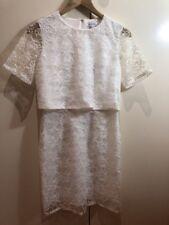 Glamorous White Lace Dress Size S