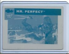 1/1 MR. PERFECT 1991 CLASSIC CARDS PRINTING PRESS PLATE WF WWE WRESTLING 1 of 1