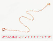 THIN Pink Rose Gold Filled Extender Safety Chain Necklace Bracelet spring lock