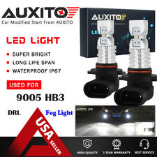 2X AUXITO 9005 HB3 9145 Fog Light 6000K White LED Bulb Driving DRL 3000LM EOA