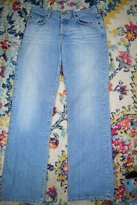 Vintage Lucky Brand Women's Button Fly Jeans Mid Rise W29  L32.5 Made USA