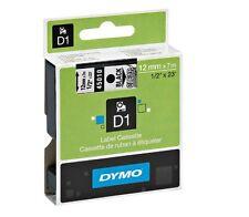 ETICHETTE NASTRO DYMO D1 12mm X 7mm BLACK/TRASPARENTE ORIGINALE 45013