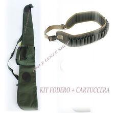 KIT FODERO FUCILE IMBOTTITO+CARTUCCERA DA CACCIA CAL.12 CUSTODIA ARMA