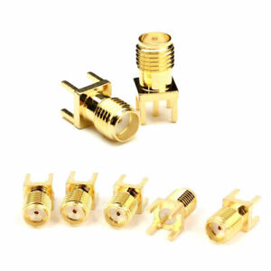 4pcs SMA RF Coaxial PCB solder Female Socket Jack Connector for External Antenna