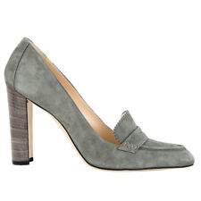 52029 auth MANOLO BLAHNIK grey suede Loafer Pumps Shoes 41