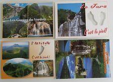 4x Wasserfall in FRANKREICH Postcards Lot France Waterfall Waterfalls Falls CPA