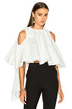 NEW ELLERY BABY WHITE COLD SHOULDER RUFFLE SHORT TOP SIZE US 4 $790
