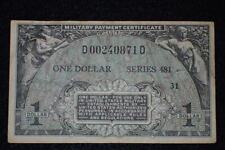 Vietnam War US Military Payment Certificate $1 Dollar Series 481 Very Nice Orig.