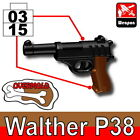 SIDAN Black Walther P38 Weapon for Brick Minifigures
