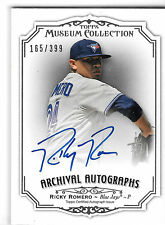 2012 Topps Museum Collection Ricky Romero Autograph Raw 165/399