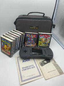 Atari Lynx Console BIG BUNDLE - Great Condition - CIB Games - Fast Shipping