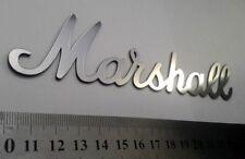 "Logo Marshall Silver plastic 154 mm = 6.1"""