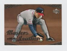 2003 Upper Deck Masters with the Leather #L3 Greg Maddux Insert Atlanta Braves