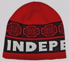 fefae35c4be INDEPENDENT TRUCKS CO  - Woven Crosses - Skateboard Beanie   Hat - Red